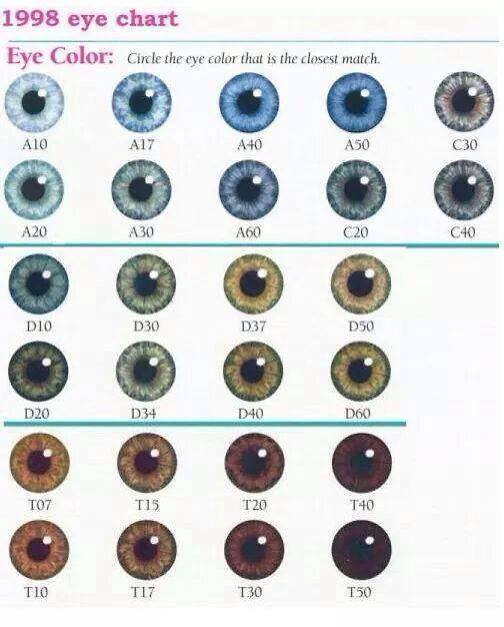 What's Your Eye Color? -- New Color Chart!
